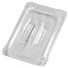 Fourth Size Top Notch® Food Pan Solid Handled Lid - Clear