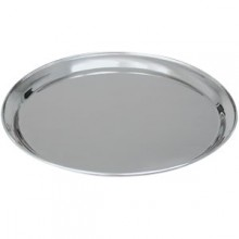 """12"""" Round Stainless Steel Tray"""
