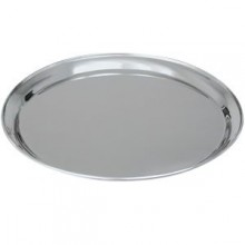 "16"" Round Stainless Steel Tray"