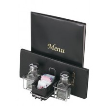 "Chrome 7 1/2"" W x 5"" D Menu Table Caddy"