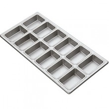 6.4 Oz. 12 Loaf Commercial Grade Aluminum Mini Loaf Pan