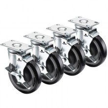 Floor Fryer Casters Set of 4, 4 w/Brakes