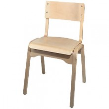 Natural Wood Stacking Chair