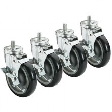 "3/4"" Threaded Stem Casters – 5"""