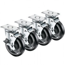 """Standard Plate Casters – 4"""" x 4"""" Plate"""