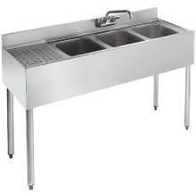 4' L 1800 Series 3 Compartment Sink