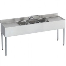 8' L 1800 Series 3 Compartment Sink