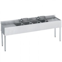 7' L 1800 Series 4 Compartment Sink
