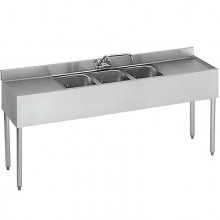 7' L 2100 Series 3 Compartment Sink