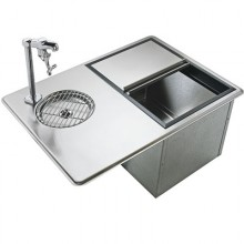 Water Station & Ice Bin Combo Stainless Steel Drop-In