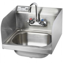 "16"" Wide Hand Sink with 8""H Side Splashes"