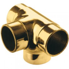Flush Outlet Tee Angle - Brass