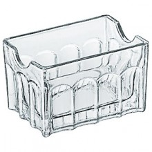 "3 1/2"" Glass Sugar Packet Holder"