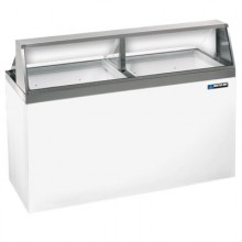 "69 1/4"" W 20 Tub Standard Front Lighted Dipping Cabinet"