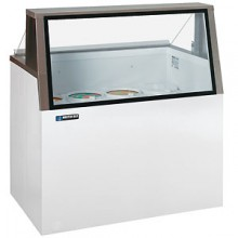 "26 1/2"" W 4 Tub Low Glass Lighted Dipping Cabinet"