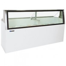 """69 1/4"""" W 20 Tub Low Glass Lighted Dipping Cabinet"""
