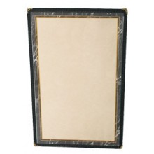 "8 1/2"" x 11"" Two View Clear Sewn Edge Single Jacket Menu"