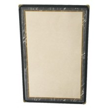 "8 1/2"" x 14"" Two View Clear Sewn Edge Single Jacket Menu"