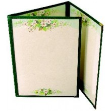 "8 1/2"" x 11"" Six View Clear Sewn Edge Trifold Jacket Menu"