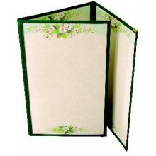 "8 1/2"" x 14"" Six View Clear Sewn Edge Trifold Jacket Menu"