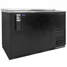 "50 1/2"" Wide Black Vinyl Bottle Cooler"