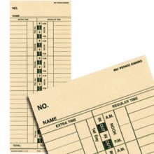 Time Cards for Electronic Time Clock - 250/cs
