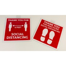 Social Distance Sign - People