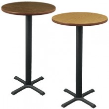 "24"" Round Complete Double-Sided Stand-Up Table"