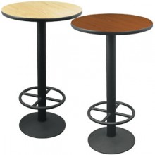 "24"" Round Complete Double-Sided Ringed Stand-Up Base Table"