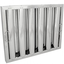 """16"""" H x 20"""" W Stainless Steel Baffle Grease Filter"""