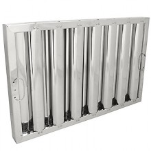"""16"""" H x 25"""" W Stainless Steel Baffle Grease Filter"""
