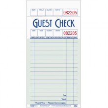 15 Line Single Paper Single Sided Guest Check - 100 Checks/Book, 50 Books/Pack