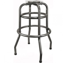 Silver Vein Double Ring Bar Stool Frame with Pitched Swivel
