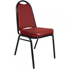 "Round Back 2 1/2"" Seat Stack Chair – Burgundy"