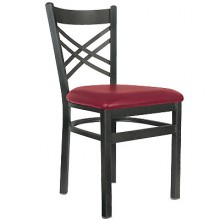 Deluxe Metal Frame Crossback Chair