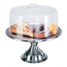 "13 1/2"" Diameter Cake Stand and Cover"