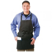 "28"" x 27"" 3 Pocket Poly-Spun Ultra Durable Bib Apron"