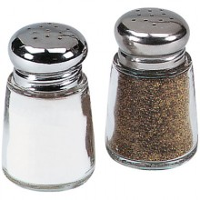 2 Oz. Jar Salt and Pepper Shaker - Chrome Top
