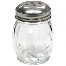 Glass Cheese/Hot Pepper Shaker - Slotted Lid