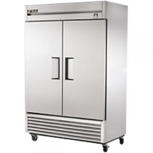 49 Cubic Ft Two Swing Door Freezer - All Stainless Steel