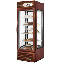 "23 Cu. Ft. 78 1/4"" Height Four-Sided Glass End Dessert Merchandiser"