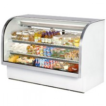 """72 1/4"""" W 37.1 Cubic Ft Standard Curved Glass Deli Case"""
