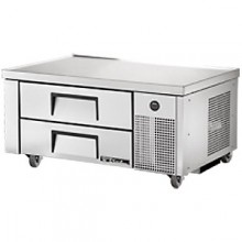"48 3/8"" W Two Drawer Four Pan Flush Top Refrigerated Chef Base"