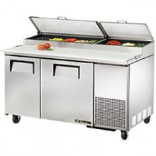 "60 1/4"" W Two Door Pizza Preparation Table"