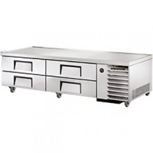 "79"" W Four Drawer Eight Pan Flush Top Refrigerated Chef Base"