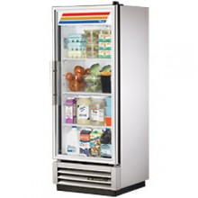 12 Cubic Ft One Glass Full Height Door Reach-In Refrigerator - Stainless Steel and Aluminum