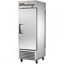 23 Cubic Ft One Pass Through Door Refrigerator - Stainless Steel Doors and Front - Aluminum Ends