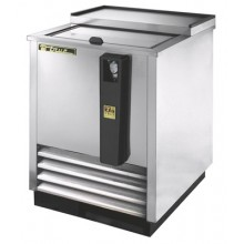 "24 3/4"" Wide Stainless Steel Exterior Bottle Cooler"
