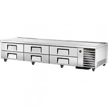 "110"" W Six Drawer Twelve Pan Flush Top Refrigerated Chef Base"
