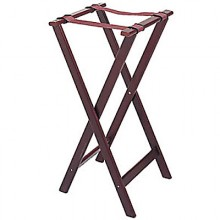 "32"" Standard Height Deluxe Wood Tray Stand"